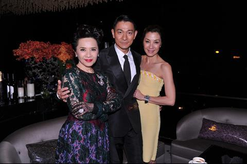 Deanie Ip, Andy Lau and Michelle Yeoh